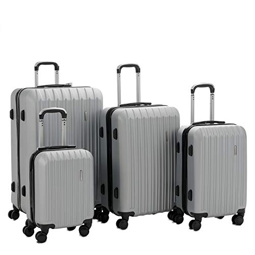 Murtisol 4 Pieces ABS Luggage Sets Hardside Spinner Lightweight Durable Spinner Suitcase 16