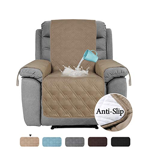 H.VERSAILTEX 100% Waterproof Recliner Protector Non-Slip Furniture Cover for Recliner Chair, Sofa Protector Stay in Place Protect from Pets Spills Wear and Tear (Recliner: Taupe) - 79 inch x 68 inch