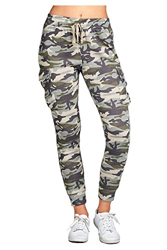 TwiinSisters Women's Soft and Comfy French Terry Elastic Waist Jogger Pants W/Drawstring