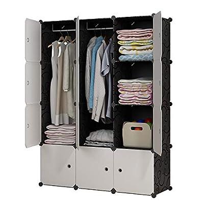KOUSI Portable Wardrobe Clothes Closet HHRBYG-B from KOUSI