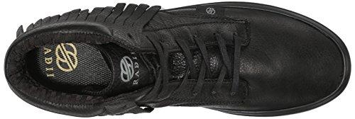 Radii Heren Basic Fashion Sneaker Black Death Leather