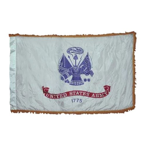 Valley Forge Army Flag 4×6 Foot Perma-Nyl With Pole Hem & Fringe