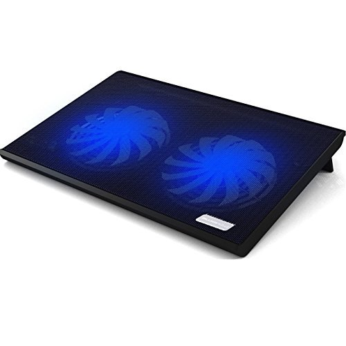 15.6' Blue Gaming Laptop (Laptop Cooler,Bujian Ultra-Slim Laptop Cooling Pad Chill Mat with 2 Quiet 140mm 1200RPM Fans Fits 11-15.6'' Laptop Notebook,2 USB Powered - T102)