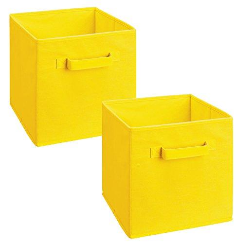 - ClosetMaid 18711 Cubeicals Fabric Drawer, Yellow, 2-Pack