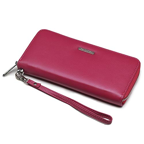 Dan And Gui Long Zipper Around Wallets for women Genuine Leather Purse birthday Gift-Wrapped with strap