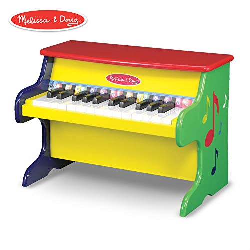 (Melissa & Doug Learn-to-Play Piano, Musical Instruments, Solid Wood Construction, 25 Keys and 2 Full Octaves, 11.5
