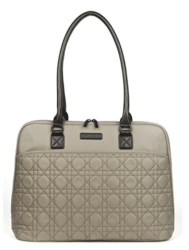 CoolBell 15.6 Inch Laptop Tote Bag Women Handbag Nylon Briefcase Classic Shoulder Bag For Laptop / Ultra-book / Macbook / Tablet / (Khaki)