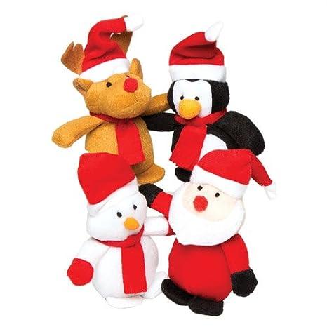 Baker Ross - Minimuñecos de Peluche navideños con Relleno - Un Juguete Suave, Calcetines y