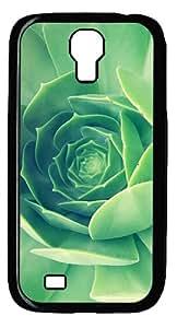 Samsung Galaxy S4 I9500 CaseGreen Plant Close Up PC Hard Plastic Case for Samsung Galaxy S4 I9500 Black