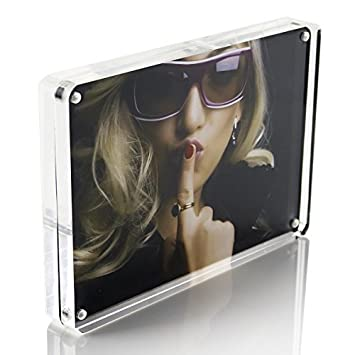 Amazoncom 5x7 Double Sided Magnetic Clear Acrylic Glass Picture