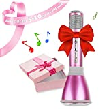 NeWisdom Handheld Wireless Karaoke Microphone, Best Toys for 6 Year Old Girls, Gifts for 8 10 13 Year Old Teen Girls