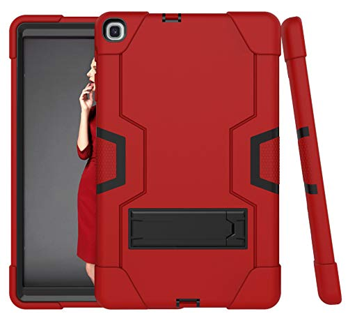Cantis Galaxy Tab A 10.1 2019 Case(SM-T510/T515),Slim Heavy Duty Shockproof Rugged Case High Impact Full Body Protective Case for Samsung Galaxy Tab A 10.1 2019 Release (red+Black) (Galaxy Tablet Case Rugged)