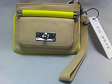 CC Skye Love Pouch Bag in Neon Yellow Cream