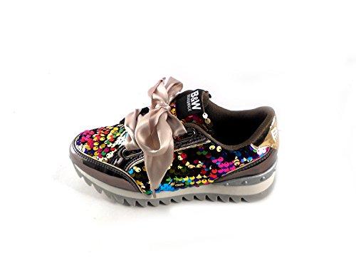 Break & Walk Sneakers B&W lentejuelas de colores talla 38