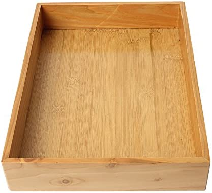19.5 cm Gysad Bandeja rectangular de madera vintage Restaurante mesa de caf/é mesa de ba/ño bandeja de m/últiples funciones bandeja de almacenamiento 29 cm 5 cm 1 unids