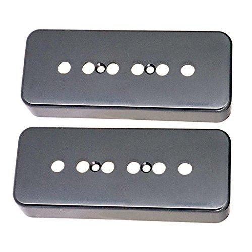MonkeyJack Plastic P90 Soapbar Pickup Covers 50/52mm for Gibson Les Paul Electric Guitar - Black