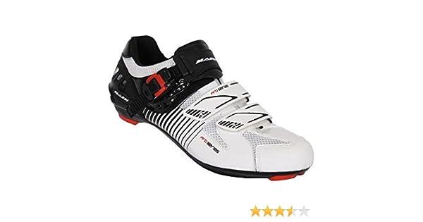 Massi Argo - Zapatillas para Ciclismo de Carretera Unisex, Color Blanco/Negro, Talla 42: Amazon.es: Zapatos y complementos
