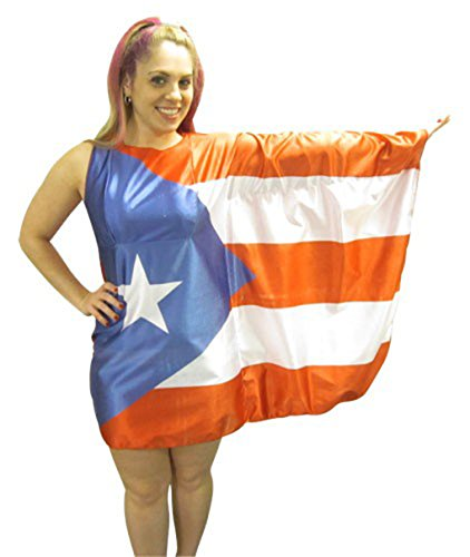 Faerynicethings Adult size Flag Dress Costume (Puerto (Adult Faery Dress)