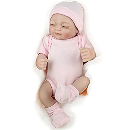 JZM Bebé Recién Nacido Muñeca,Simulación Muñeca Suave Baño De ...