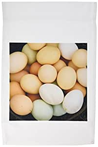 3dRose fl_11391_1 Garden Flag, 12 by 18-Inch, Chicken Eggs by Angelandspot
