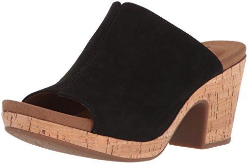 Rockport Women's Vivianne Slide Heeled Sandal, Black, 9 M US