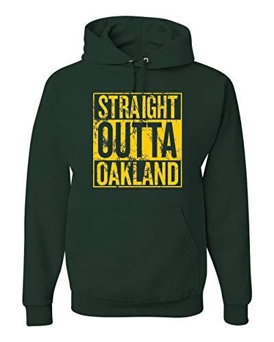 - Wild Bobby Straight Outta Oakland Oak Fan   Fantasy Baseball Fans   Mens Sports Hooded Sweatshirt Graphic Hoodie, Forest Green, 2XL