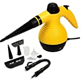 Yellow new Portable Steamer W/Attachments Multi Purpose Handheld Steam Cleaner 1050W