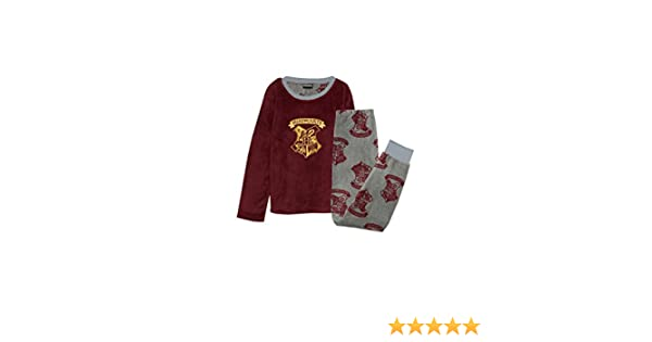 Pijama para niños, diseño de Hogwarts de Harry Potter, forro polar suave y cálido, de 7 a 12 años Rojo granate 11-12 años (152 cm): Amazon.es: Ropa y ...