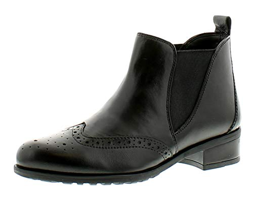 Ladies UK 3 Plus Leather Sizes 8 Boots Comfort Womens Ankle Black Chelsea Black Upxct