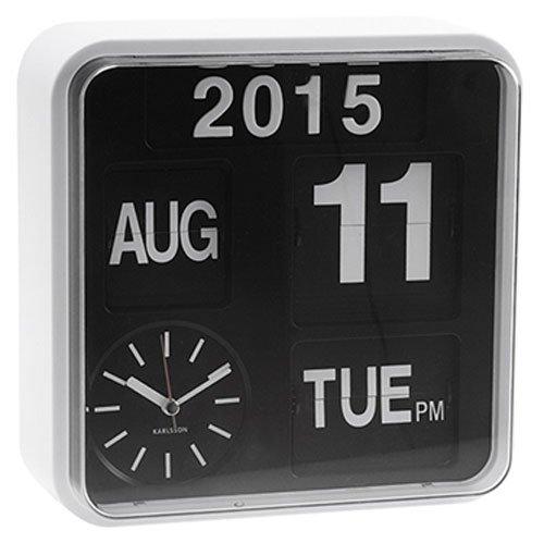 Karlsson Flip Clock (Karlsson Mini Flip Black Dial Casing Wall Clock)