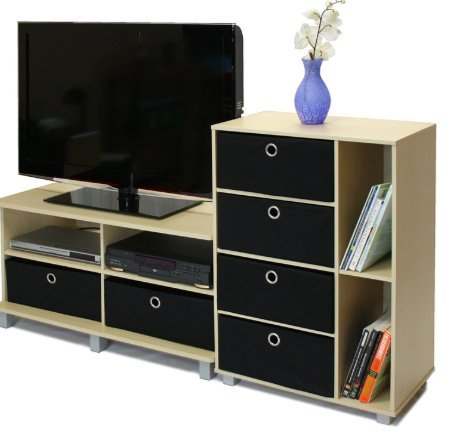 Beech Entertainment Center - SKB family Steam Beech Entertainment Center - Holds Flat Screen TV's up to 42