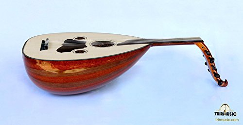 Turkish Quality Mahogany And Walnut String Instrument Zenne Women Oud Ud AZO-104 by trirmusic