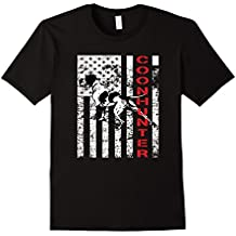 Distressed Coon Hunting Shirt with a Hound Dog and USA Flag