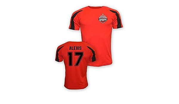 fe43c69615c Amazon.com   Gildan Alexis Sanchez Arsenal Sports Training Jersey (red) -  Kids   Sports   Outdoors