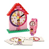 LEGO Time Teacher 9005039 Pink Set with Plastic Watch, Constructible Clock, and Activity Cards