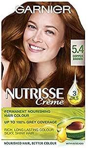 Garnier Nutrisse 5.4 - Tinte para el cabello permanente, Copper Brown, paquete de 3