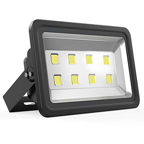 Dimgogo LED Flood Light 400W, Outdoor Waterproof IP65 40000lm Super Bright Flood Lamp Cool White 6000K Spotlight Lamp Daylight for Garden Yard, Party, Playground, Stadium and Square