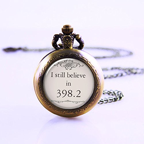 I Still Believe in 398.2 Pendant Pocket Watch , Fairy Tale Pendant Pocket Watch , Book Pendant, Book Jewelry Pocket Watch , Book Jewellery Pocket Watch