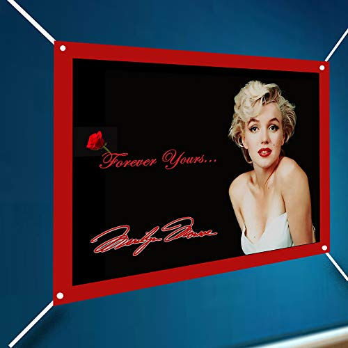 Marilyn Monroe Full Color Banner Large Vinyl Indoor Or Outdoor Sexy Sign Poster Backdrop, Party Favor Decoration, 30