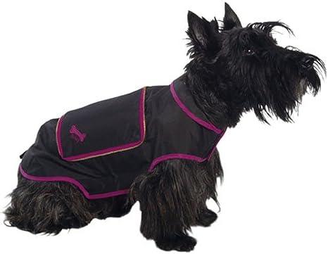 Black Extra Small Bobby Imper Pocket Polyester Dog Raincoat