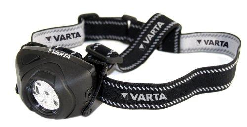 Varta 5 x 5mm LEDs Indestructible Head Light 3AAA, extrem robustes (Falltest 9m) und spritzwassergeschütztes (IPX4) Gehäuse, kompakt und leicht, kippbarer Leuchtenkopf, 2 Leuchtstufen