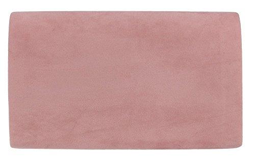 Plain Blush Ladies Design Pale Clutch Nude Suede amp;G Metallic Bag Envelope H Pink Frame Faux qwCzp5nS