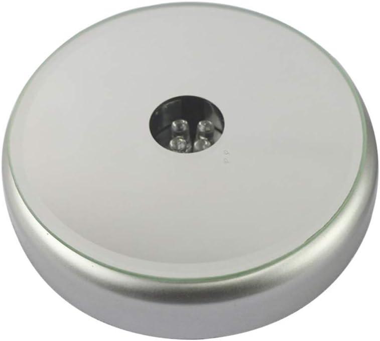 Uonlytech geführt Light Basis Lamp zeigen Stand Display Plate Multicolor für 3D Laser Crystal Glass Kunst Withou Battery