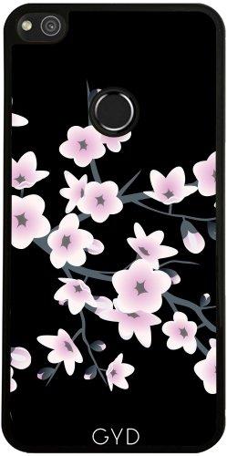 Funda de silicona para Huawei P8 Lite 2017 - Elegantes Flores De Color Rosa Negro by Nina Baydur