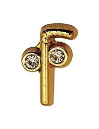 Lapel Pin Masonic Tubal Cane 2 Balls and Cane Gold