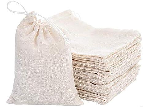 Amazon.com: KUPOO - Bolsas de muselina de algodón con cordón ...