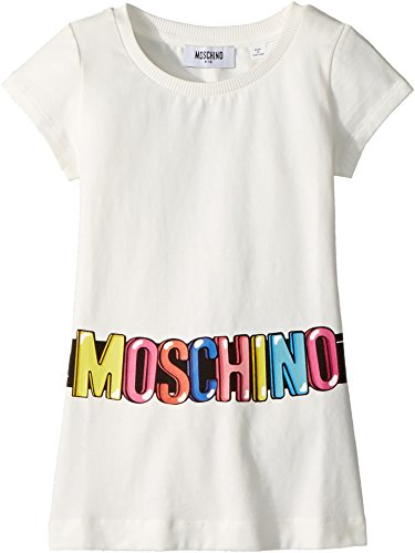 Moschino Kids Girl's Short Sleeve Tunic w/Logo Belt Graphic (Little Kids/Big Kids) Cloud 6 by Moschino Kids