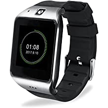 Bluetooth Smart Watch Touchscreen, EasySMX Smartwatch Cell Phone with Sim Card Slot and Camera, All in 1 Touch Screen Watch for iPhone, Android Samsung Galaxy Note, Nexus, HTC, Sony (Silver)