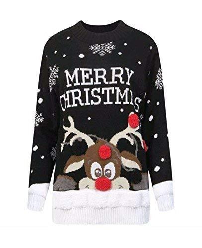 nuovo concetto d87ad a4523 FASHIONCHIC Uomo Donna Unisex Vintage retrò Merry Christmas ...