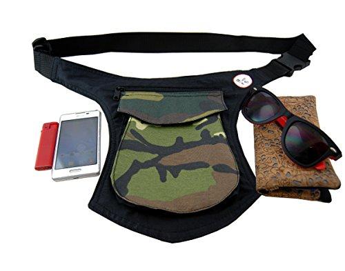 Marsupio da Cintura Plan B MILITARE Viaggio Sacchetto, Custodia da Cintura, Escursioni Sport Hiking Borsello per Trekking Sportive